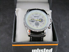 Unlisted Kenneth Cole Men's Analog  Leather Band Watch UL0468