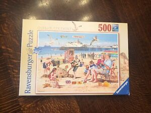 🧩RAVENSBURGER 500 PIECE PUZZLE - A DAY AT THE BEACH - 100% COMPLETE VGC