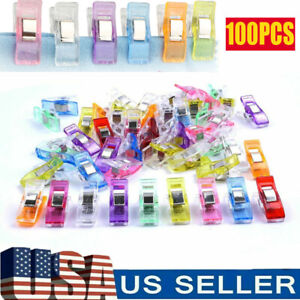 100Pcs Plastic Sewing Clips Clamp for Craft Quilting Knitting Crochet Binding
