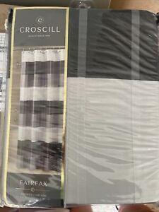 CROSCILL Fairfax Shower Curtain 72 In x 72 In Black