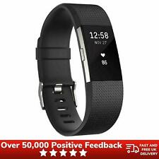 Fitbit Charge 2 Large Wristband Health Fitness Tracker FB407SBKL - Black