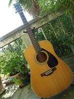 Guitare FOLK YAMAHA 90' FG ? sans etiquette FG335 FG340 DREADNOUGHT a saisir