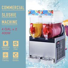 2 X 4 Gal Commercial Frozen Drink Maker Slushie And Margarita Machine Pc Tanks