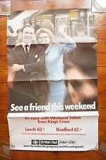 Original '70s Inter City 125 See A Friend This Weekend Railway Poster Leeds