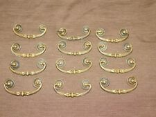 20pcs Dollhouse Miniature 1:12 Scale Gold Brass Cabinet Drawer Handles Pulls BH