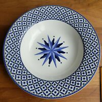 Casual Victoria & Beale Williamsburg Soup Bowl with rim blue compass rose