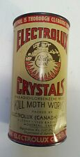 "RARE CANADIAN (MONTREAL) ""ELECTROLUX CRYSTALS"" 16 OZ TIN-KILLS MOTH WORMS-EMPTY"