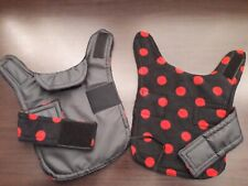 Teacup chihuahua . Waterproof dog coat .size xxxs. Black with black red spot