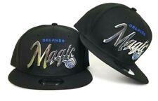 New Era Black Orlando Magic Silver Metal Badge 9Fifty Snapback Hat