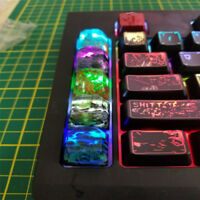 Keycaps Resin + Wood Backlit Artisan Key Caps For Cherry MX Keyboards Handmade
