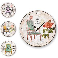 Orologio da Parete Sedia Vintage 33cm Numeri Romani Retrò Sedie Paris London