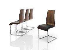 CH-1004 Dupen Design Stuhl Set 2 Stühle Esszimmerstuhl Nussbaum Holz Kunstleder