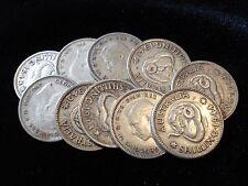 Australian Predecimal Sterling Shilling Bulk Silver Coins 10pc