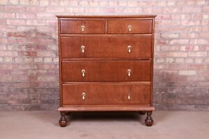 Antique Stickley Brothers William & Mary Maple Chest of Drawers, Newly Refinishe