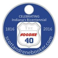 The Hoosier 40 Pathtag, Indianas Bicentennial Pathtag, US Hwy 40, Book Pathtag