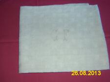 LOT(n°4) DE 6  SERVIETTES brodées  initiale  «G.F »– année 1900/1930 Coton blanc