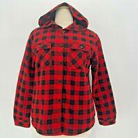 Boston Traders Sherpa Fleece Lined Hoodie Shirt Jacket Womens XL