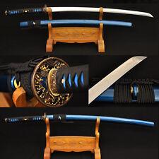 Japanese Samurai Sword Katana Clay Tempered Damascus Folded Steel Sharp Blades