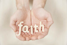 Human Hands Holding Letters Spelling Word Faith Photo Art Print Poster 12x18 inc