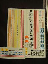 DECALS TRAIN 1/87 MODEL LOCO 65500 DIVERS DECORATIONS  - CARPENA  8728