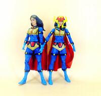 "LOT OF 2 DC Universe  DCU Classics Wave 7 BIG BARDA action Figure 6"" LOOSE"