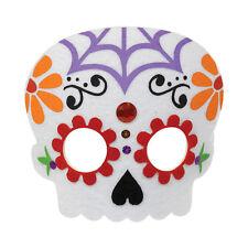 Día de los Muertos Calavera Fieltro Máscara Disfraz Halloween