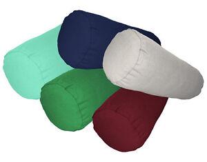 aa 100% Cotton Canvas Yoga CASE Long Bolster Cushion Neck Roll COVER Custom Size