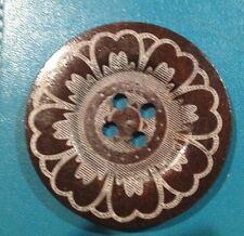 60mm Dark Wooden Patterned Button- Australian Supplier