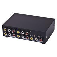 4 Port Input 1 Output Audio Video AV RCA Switch Box 4 Ways Selector Box