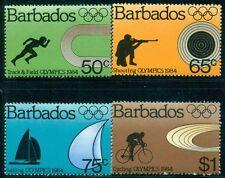 BARBADOS 623-26 SG 745-48 MNH 1984 Summer Olympic Games LA set Cat$6