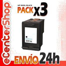3 Cartuchos Tinta Negra / Negro HP 300XL Reman HP Photosmart C4680 24H