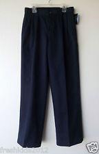 Nautica Dress Blues Boys Navy Pleated Uniform Khakis size 16 Regular NWT B5446