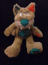 "Teddy & Friends Cat Patch Corduroy Plaid Tartan 13"" Plush Soft Toy Australia"
