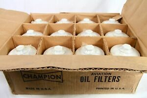 CASE of 12 CHAMPION CH48105 SPIN-ON OIL AVIATION FILTER 3/4 -16 FAA/PMA AIR BOAT
