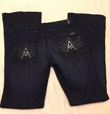 "7 For All Mankind Women's Jeans Boot Cut A Pocket Size 28 w/ 33"" Inseam (AA11)"
