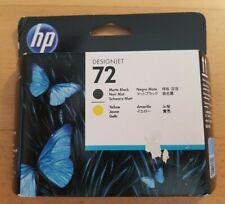 HP 72 DesignJet Printhead, Matte black and yellow (C9384A)