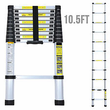 10.5FT Multi Purpose Aluminum Ladder Fold Step Extend Telescopic Garden Tools