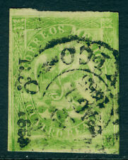 MEXICO 1865 EAGLE  4r green  4th period - MEXICO - dist. ovpt Scott# 24 used VF+