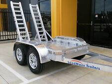 LoadMaxx aluminium machinery trailer for mini excavators/mini loaders