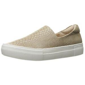 J Slides Ariana Platform Snake Taupe Sneaker Women's size 9