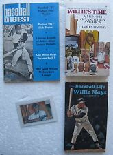 Willie Mays (4 Items) 1971 Baseball Digest, 1970's Paperback Books, 1951 Reprint