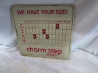 VINTAGE ADVERTISING STORE DISPLAY CHARM STEP SHOES SIZE CHART