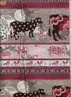 Alexander Henry Skullduggery 8490 A Bright Chopped /& Channeled Cotton Fabric BTY