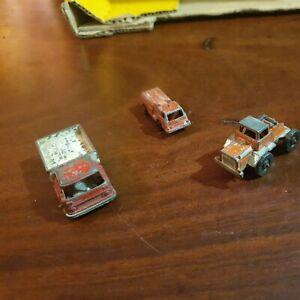 Vintage Fun Ho! NZ - Die Cast - trucks x2 plus x1 other - Used - Playworn