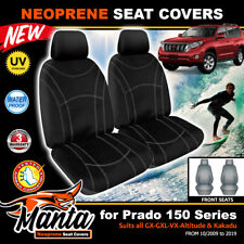 Manta Custom Black Front Neoprene Seat Covers for Toyota Prado 150 10/2009-2019