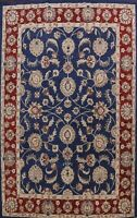 NAVY BLUE Floral Oriental Area Rug Hand-tufted Traditional Large Carpet 10'x13'