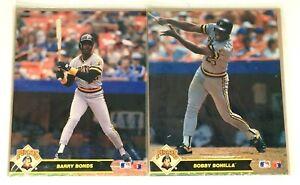 Vintage NOS 2 Official MLB Action Photos Barry Bonds/Bobby Bonilla Pirates 1990