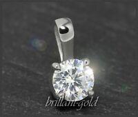 Brillant 585 Gold Anhänger, Diamant Silitär mit 0,28ct; Damenanhänger NEU