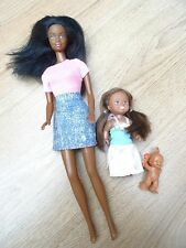 Black Barbie Doll + BABY & Big Sister poupée famille Bundle