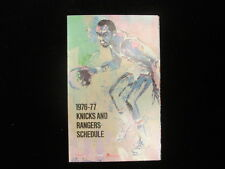 1976-77 New York Knicks & Rangers Pocket Schedule